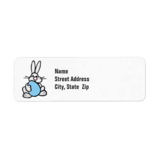 Bunny with Baby Blue Egg Return Address Label