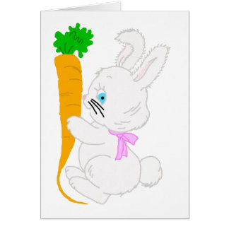 Bunny with Carrot-t Card