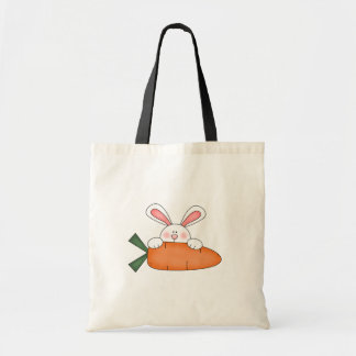 Bunny With Carrot Tshirts and Gifts Canvas Bags