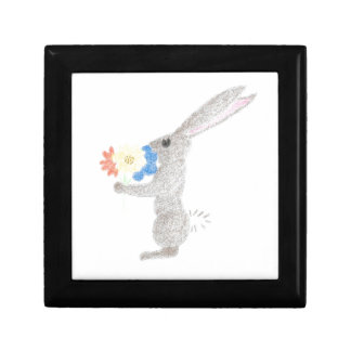 Bunny With Flowers Gift Box