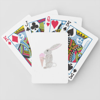 Bunny with Ice Cream Bicycle Playing Cards