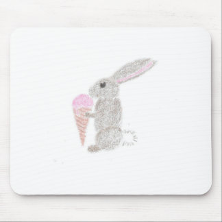 Bunny with Ice Cream Mouse Pad