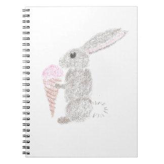 Bunny with Ice Cream Notebooks