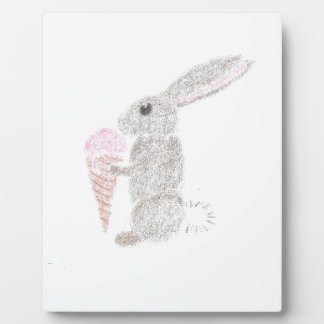 Bunny with Ice Cream Plaque