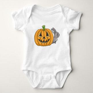 Bunny with Jack O Lantern Baby Bodysuit