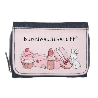 Bunny with pink stuff wallet