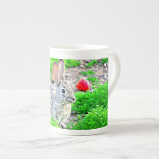 """Bunny with Strawberry"" Bone China Tea/Coffee Cup"