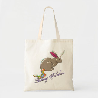 Bunnycorn Looking Fabulous tote, the bunny unicorn Tote Bag