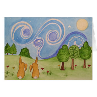 Bunnykins by starlight card