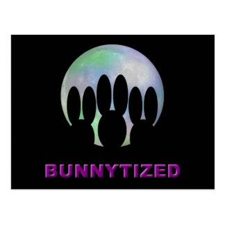 Bunnytized Cosmic Bunny Full Moon Postcard