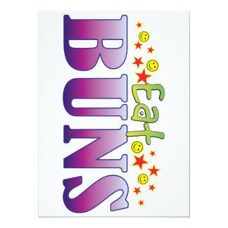 Buns Eat 14 Cm X 19 Cm Invitation Card