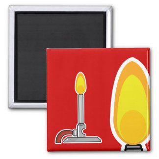 Bunsen Burner Square Magnet