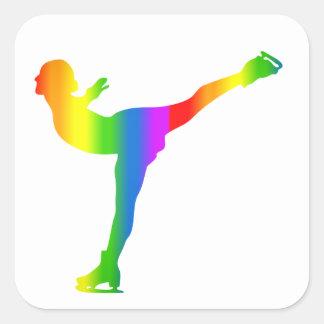 Bunter Eiskunstlauf Regenbogen Sticker