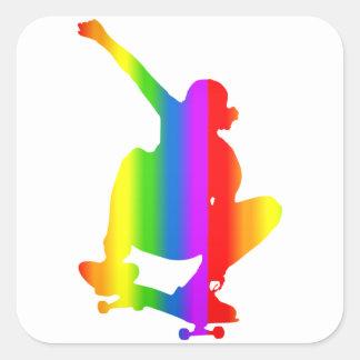 Bunter Skateboard Regenbogen Sticker