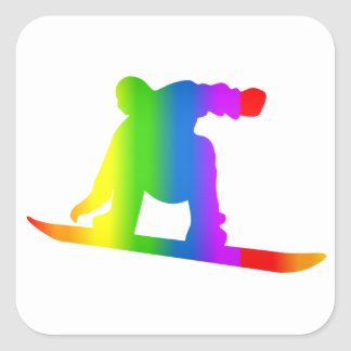 Bunter Snowboard Regenbogen Sticker