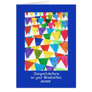 Bunting Graduation Congratulations for James Card