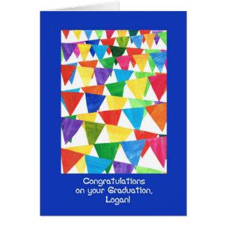 Bunting Graduation Congratulations for Logan Card