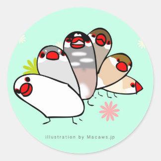 bunzairushiru classic round sticker