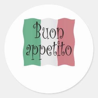 Buon appetito round sticker