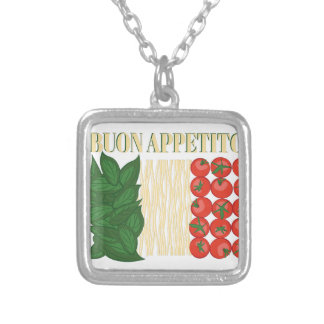 Buon Appetito Silver Plated Necklace