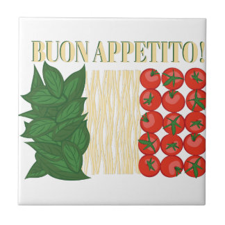 Buon Appetito Small Square Tile