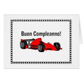 Buon Compleanno auto da corsa Card