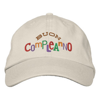 Buon Compleanno Embroidery Hat Embroidered Baseball Caps