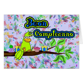 Buon Compleanno -Uccello Greeting Cards