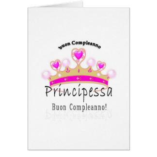 Buon Compleano Principessa Card