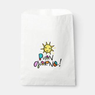 Buon Giorno, hand drawn Favour Bags