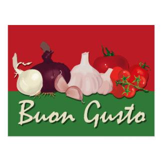 Buon Gusto Recipe Cards Postcard