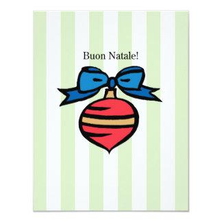 Buon Natale 4.25x5.5 Ornament Greeting Card GR 11 Cm X 14 Cm Invitation Card