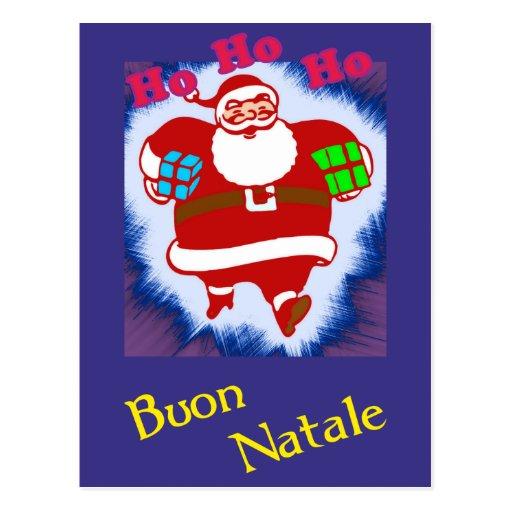 Buon Natale Babbo natale Postcard