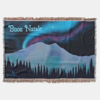 Buon Natale - Blue Aurora Throw Blanket