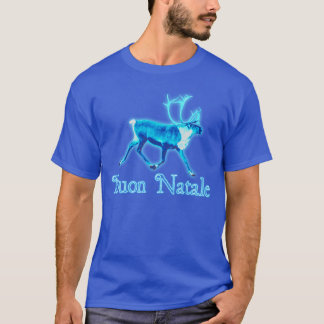 Buon Natale - Blue Caribou (Reindeer) T-Shirt