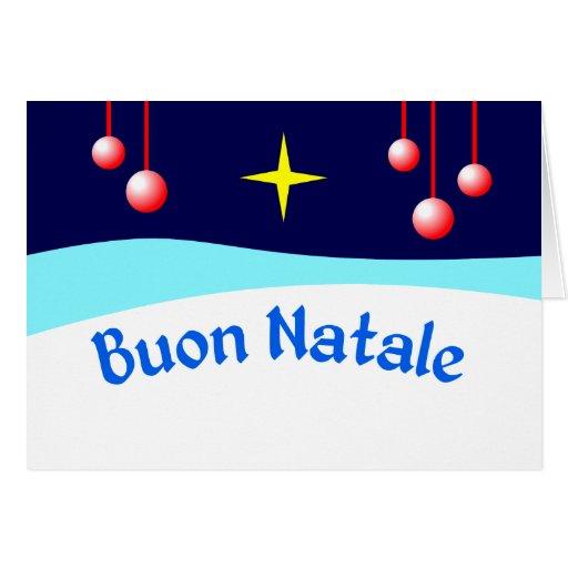 Buon Natale Greeting Card