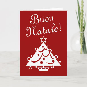 Italian christmas cards zazzle buon natale christmas card italian xmas greeting m4hsunfo