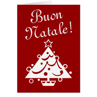 Buon Natale Christmas card | Italian xmas greeting