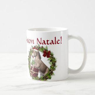 Buon Natale Christmas Donkey Santa Mug