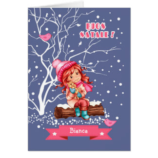 Buon Natale. Christmas Greeting Card in Italian