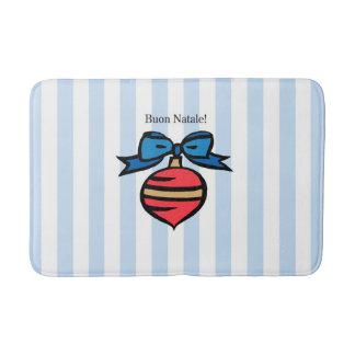 Buon Natale Diamond Medium Bath Mat Blue Bath Mats