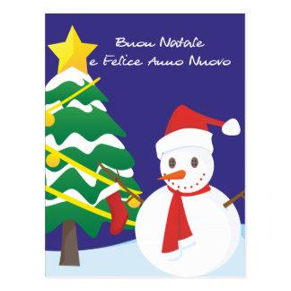 Buon Natale e Felice Anno Nuovo Postcard