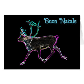 Buon Natale - Electric Caribou Card
