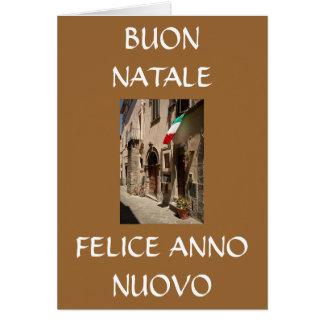 BUON NATALE, FELICE ANNO NUOVO CARDS