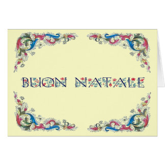Buon natale - Florencia design Greeting Card