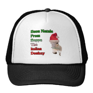 Buon Natale From Beppe The Italian Donkey Mesh Hat