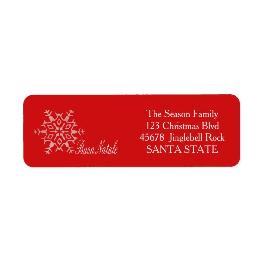 Buon Natale Holiday Address Label