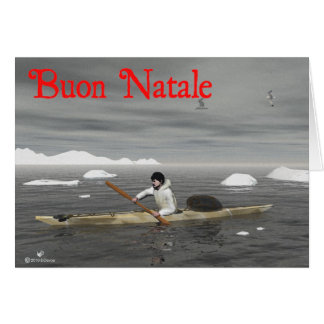Buon Natale - Inuit Kayak Greeting Cards