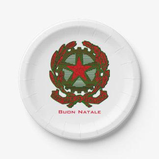 Buon Natale Italian Christmas Paper Plate