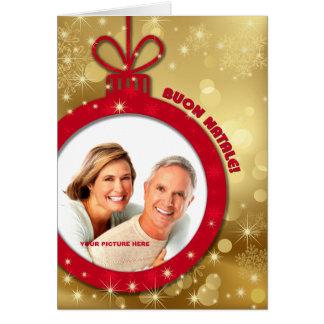 Buon Natale. Italian Custom Photo Cards